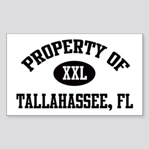 Property of Tallahassee Rectangle Sticker