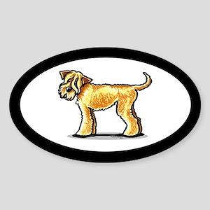Soft Coated Wheaten Terrier Sticker (Oval)