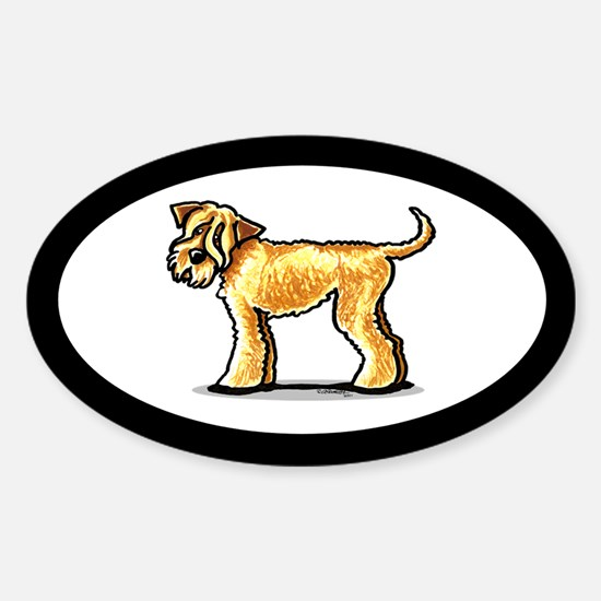 Soft Coated Wheaten Terrier Sticker (Oval)