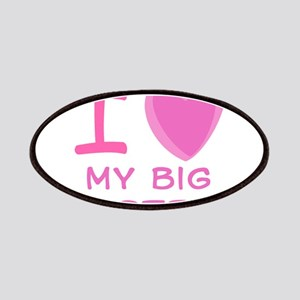 Pink I Heart (Love) My Big Si Patches