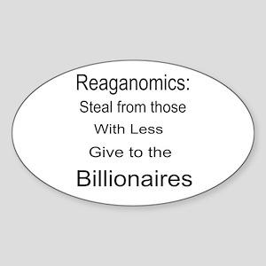 Reaganomics Anti MiddleClass Sticker (Oval)