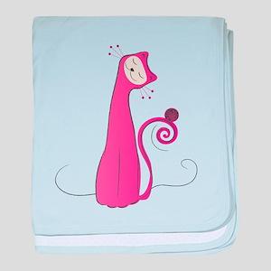 Cheerful Cat baby blanket