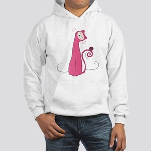 Cheerful Cat Hooded Sweatshirt