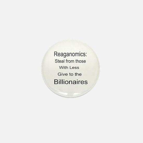 Reaganomics Anti MiddleClass Mini Button