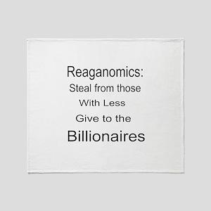 Reaganomics Anti MiddleClass Throw Blanket