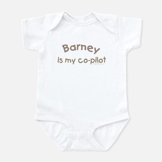 Barney is my co-pilot Infant Creeper