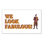 Fabulous Swiss Guard Sticker (Rectangle 10 pk)