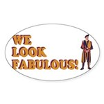 Fabulous Swiss Guard Sticker (Oval 10 pk)