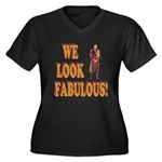 Fabulous Swiss Guard Women's Plus Size V-Neck Dark
