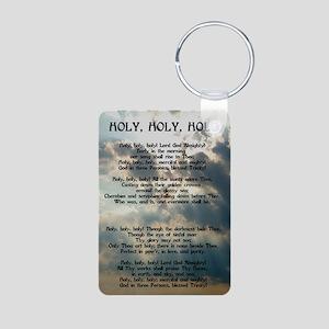 Holy, Holy, Holy Aluminum Photo Keychain