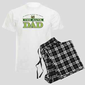 Men's Pajamas, Bank of Dad green type