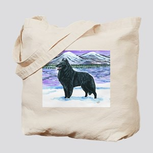 Belgian Sheepdog In Snow Tote Bag