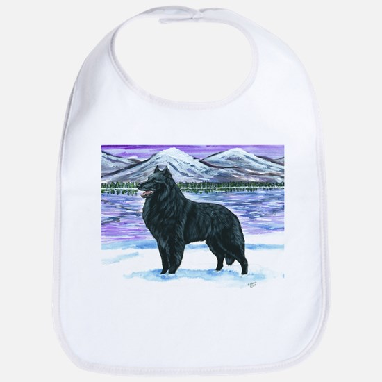 Belgian Sheepdog In Snow Bib