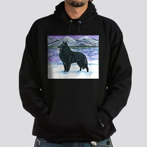Belgian Sheepdog In Snow Hoodie (dark)