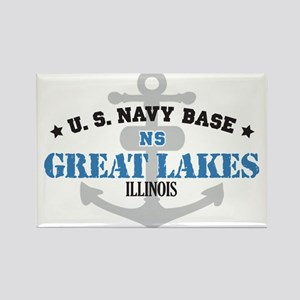 US Navy Great Lakes Base Rectangle Magnet