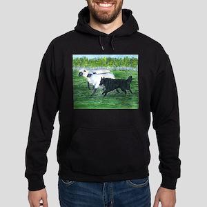 Belgian Sheepdog Herding Hoodie (dark)