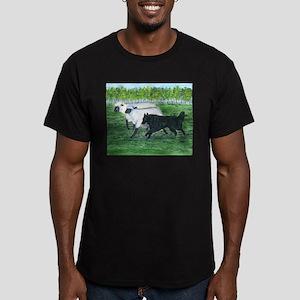 Belgian Sheepdog Herding Men's Fitted T-Shirt (dar