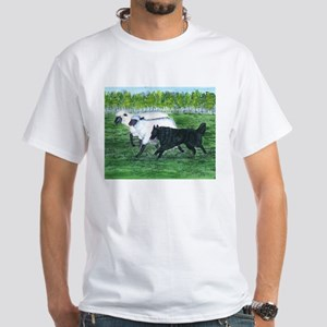 Belgian Sheepdog Herding White T-Shirt