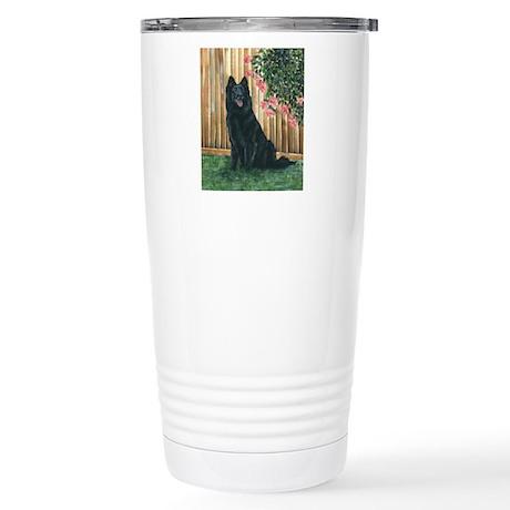Belgian Sheepdog Happy Stainless Steel Travel Mug