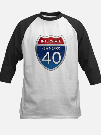 Interstate 40 - New Mexico Kids Baseball Jersey