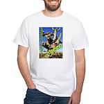Saguaro Zombies: The Green Zombie White T-Shirt