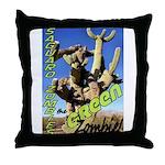 Saguaro Zombies: The Green Zombie Throw Pillow