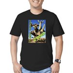 Saguaro Zombies: The Green Zombie Men's Fitted T-S