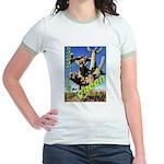 Saguaro Zombies: The Green Zombie Jr. Ringer T-Shi