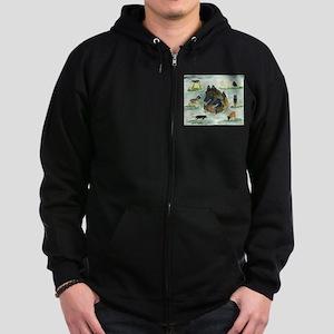 Belgian Tervuren Versatility Zip Hoodie (dark)
