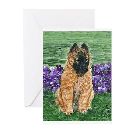 Belgian Tervuren Puppy Greeting Cards (Pk of 20)