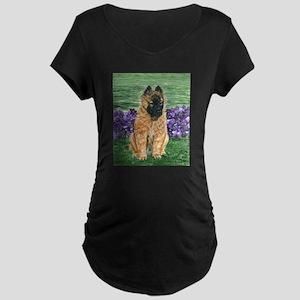 Belgian Tervuren Puppy Maternity Dark T-Shirt
