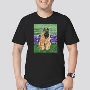 Belgian Tervuren Puppy Men's Fitted T-Shirt (dark)