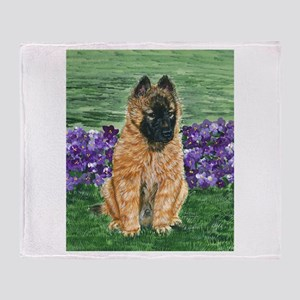 Belgian Tervuren Puppy Throw Blanket