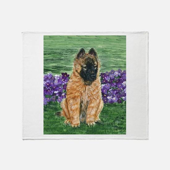 Belgian Tervuren Puppy Throw Blanket
