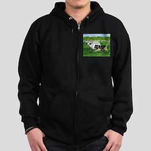 Belgian Tervuren Herding Zip Hoodie (dark)