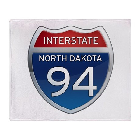 Interstate 94 - North Dakota Throw Blanket