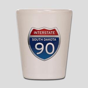 Interstate 90 - South Dakota Shot Glass
