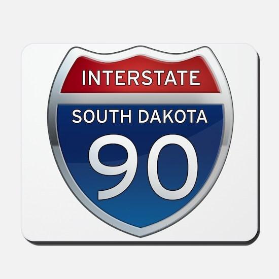Interstate 90 - South Dakota Mousepad