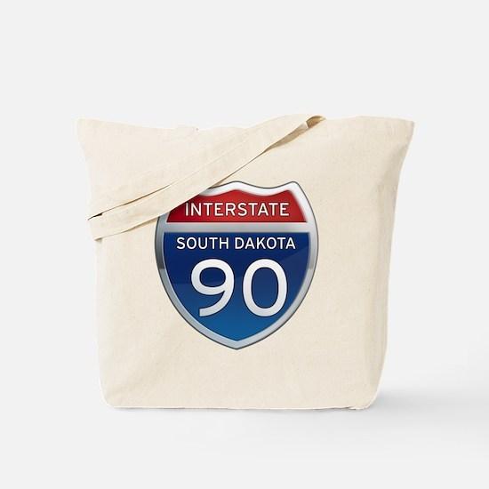 Interstate 90 - South Dakota Tote Bag