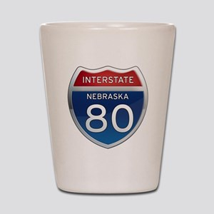 Interstate 80 - Nebraska Shot Glass