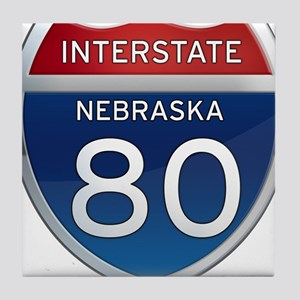 Interstate 80 - Nebraska Tile Coaster
