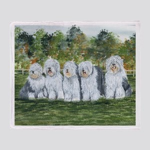 Old English Sheepdog Throw Blanket