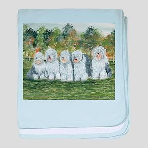 Old English Sheepdog baby blanket