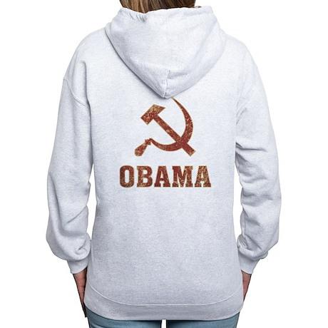 Socialist Obama Vintage Women's Zip Hoodie
