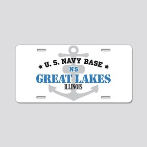 US Navy Great Lakes Base Aluminum License Plate