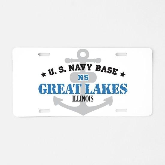 US Navy Great Lakes Base Aluminum License Plate