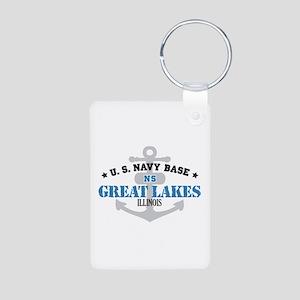 US Navy Great Lakes Base Aluminum Photo Keychain