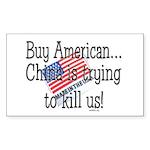 Buy American Sticker (Rectangle 10 pk)
