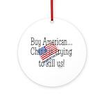 Buy American Ornament (Round)