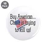 """Buy American 3.5"""" Button (10 pack)"""